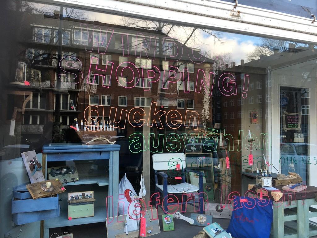 WINDOW SHOPPING! gucken auswählen anrufen liefern lassen