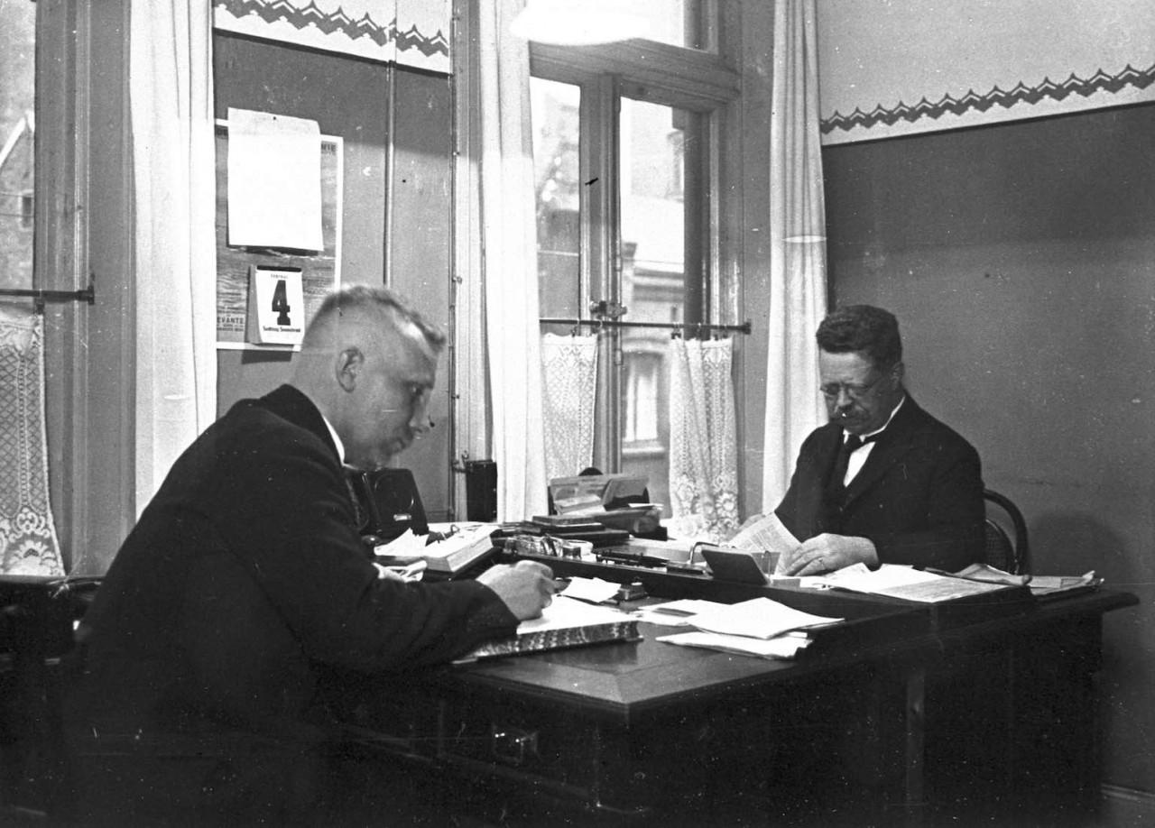 Privatkontor der Firma Wehrhagen, 1928.